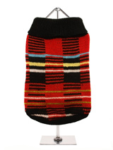Striped Tartan Sweater - We have put a modern twist on the traditional Scottish tartan and have come up with an up to the minute design that is sure to stand out from the crowd, not only stylish but warm and comfortable as well.