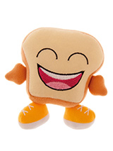 Happy Toast Plush & Squeaky Dog Toy - He would not be so happy if he knew the fate that awaited him. But at least Mr Toast will last a lot longer than the real thing and will give hours of enjoyment. You might even get a chance to finish your actual tea and toast while your dog chews on this toy. These soft, cute and cuddly toys are des...