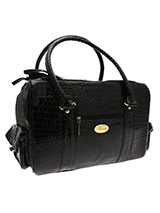 Black Snakeskin Pet Carrier - Snakeskin bags took an exotic turn on the catwalks this season with bright hues and block colours creating and eye catching trend. Our Black Snakeskin Carrier is especially designed to help you look fabulous and make your pet's journey as comfortable and as safe as possible. It has two mesh windows...