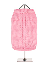 Pink Cable Knit Sweater - A traditional style cable knit sweater is truly timeless and will keep your dog warm and snug in the cold days ahead. Finished with an on trend high neck and elasticated sleeves to ensure a great fit from front to back.