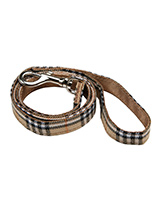 Brown Checked Tartan Fabric Lead - Here at Urban Pup our design team understands that everyone likes a coordinated look. So we added a Brown Checked Tartan Fabric Lead to match our Brown Tartan Harness, Bandana and collar. This lead is lightweight and incredibly strong.