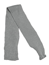 Grey Knitted Scarf - Our knitted scarves can be worn in a number of ways. One end of the scarf has an opening so that it can be worn like a tie. Or it can be simply tied around the neck. But whatever way it is worn it is guaranteed to create that casual look while keeping the neck and chest warm.