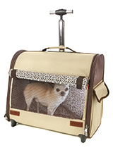 Beige Travel Carrier - This Beige Travel Carrier is an amazing fantastic versatile item. You will wonder how you managed without it. When you extend the telescopic handle it can be used as a wheeled carrier and can be pulled along on its wheels, just like a regular suitcase, the only difference this time is that the conte...