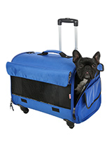 Large Blue Travel Carrier - This large Blue Trolley carrier is an amazing fantastic versatile item. You will wonder how you managed without it. When you extend the telescopic handle it can be used as a wheeled carrier and can be pulled along or wheeled by your side on its four wheels, just like a regular suitcase, the only dif...