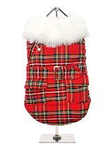 MacGregor Quilted Tartan Coat - From Highland plaids to couture checks this season sees a diverse approach to towards a heritage reference point and our MacGregor Quilted Tartan Coat fits this trend perfectly by bringing statement prints into play. This is a high quality item with faux fur collar, quilted and fleece lined to keep...