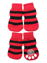 Wicked Witch Pet Socks - These fun and functional doggie socks protect your dogs paws from mud, snow, ice, hot pavement, hot sand and other extreme weather. Made from 95% cotton and 5% spandex making them comfortable and secure. Each sock features a paw shaped anti-slip silica pad and help keep your house sanitary. (set of...