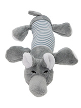 Nelly The Elephant Plush & Squeaky Dog Toy - Nelly The Elephant is a great interactive toy for playing 'tug o' War'. He is quite robust and will stand up to a lot of chewing and biting. The rest of him is cuddly and colourful with an added squeak to entertain your pet! This toy will provide hours of fun for your pup as he squeaks with every bi...