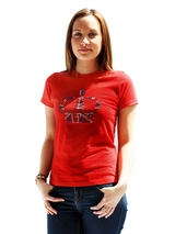 Princess Crown GlamourGlitz Women's T-Shirt - Exclusive GlamourGlitz ''Mommy and Me'' Women's T-Shirt. <br /><br /> Fit for a princess, the Crown Design is a real style indicator and a must have look. Crafted with Red, Silver and Blue Rhinestuds that catch a sparkle in the light. Whether you wear this to match up with your pet or just on it's o...
