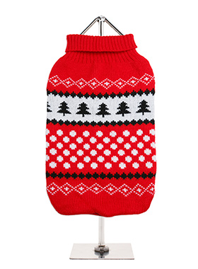 Red / White Snowball Sweater