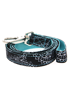 Black & Blue Paisley Lead