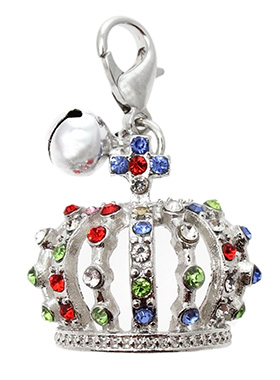 Crown Jewels Dog Collar Charm in Silver