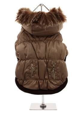 Luxury Quilted Parka with Detachable Hood