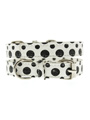 Black / White Polka Dot Glitter Collar & Lead Set