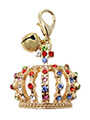 Crown Jewels Dog Collar Charm in Gold