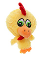 Atomic Chicken Plush & Squeaky Dog Toy